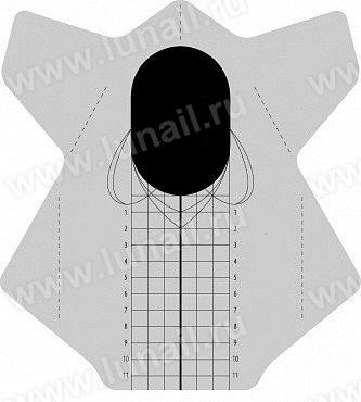 Φόρμες νυχιών - Forms rectangular universal 500 pcs / roll