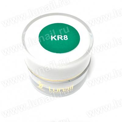 "Gel paint Lunail dark green ""KR8"" 5 ml"
