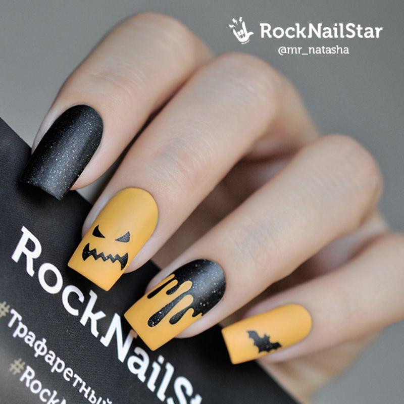 Stencil Rocknailstar Halloween