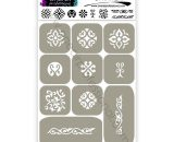 """Stencils for airbrushing on nails OneAir """"Ornament"""""""
