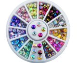 Ρόδα nail art colorfull diamond AB 4mm