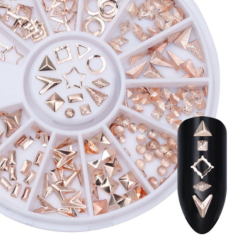 3D studs για διακόσμηση 02 rose gold