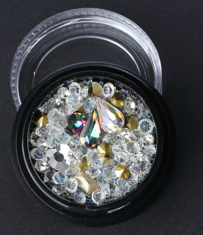 Nail Art Rhinestones Glitter Diamonds Mixed 3D