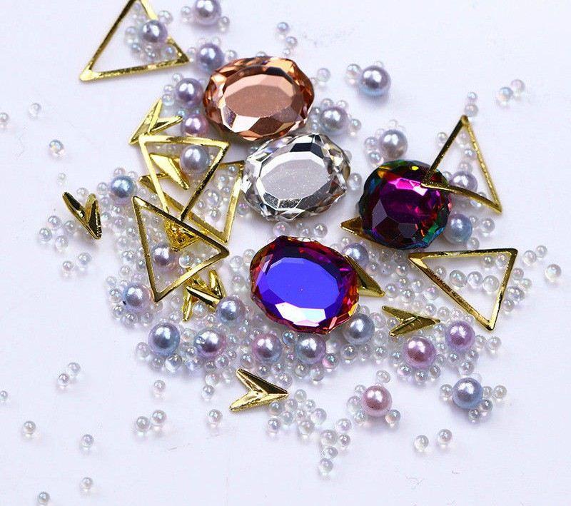 Nail Art Rhinestones Coloful Diamond 3D