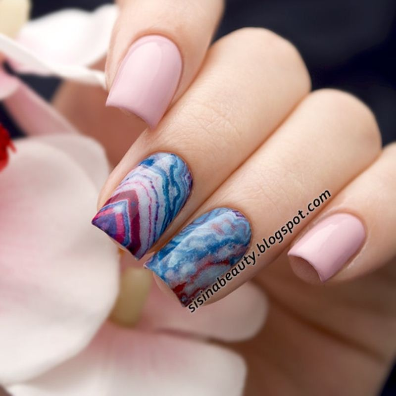 Decal nail sticker Pink stone