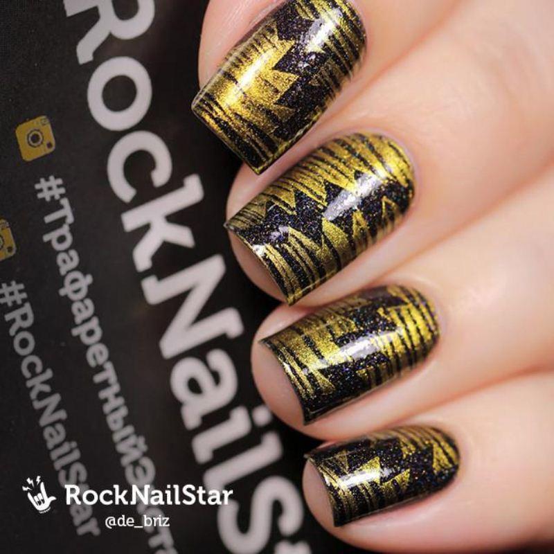 Stencil Rocknailstar Thorns
