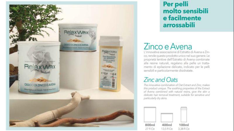 Relax ρολέτα κερί Zinc & Oats 100 ml